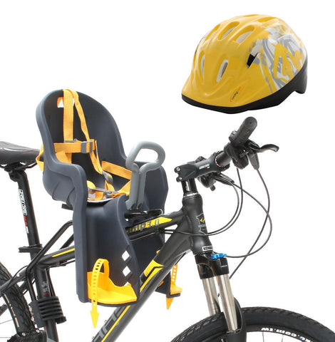 Bike Front Baby Kids Seat Carrier with Handrail and Helmet BBS-002
