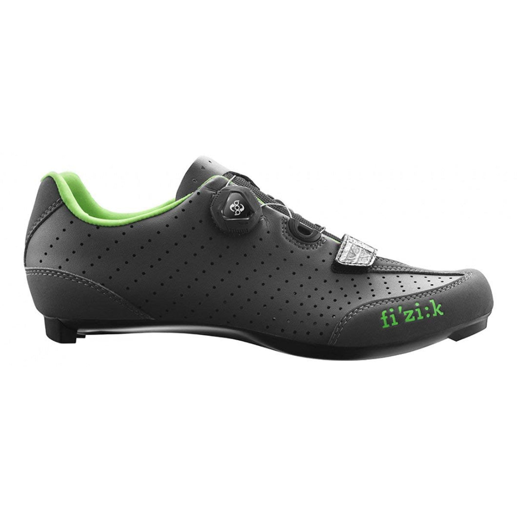 Fizik R3 UOMO BOA Road Cycling Shoes Anthracite/Green Size 40