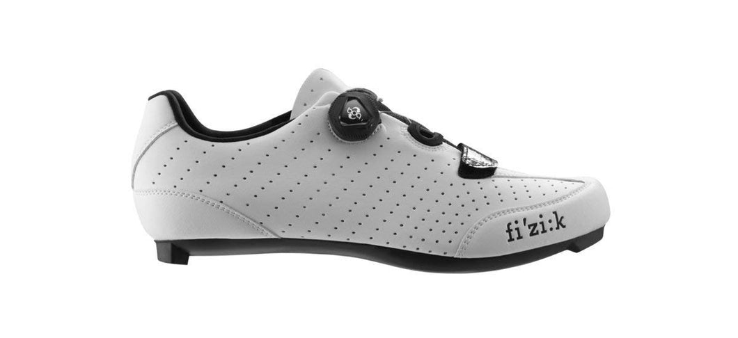 Fizik Men's R3B Uomo Boa Road Sport Cycling Shoes - White/Black 40