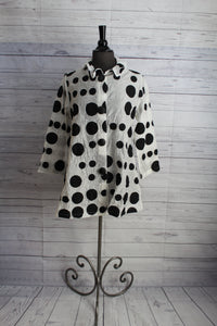 Yushi Clothing Jacket Shirt Polka Dot Design Best Seller 3 Colors