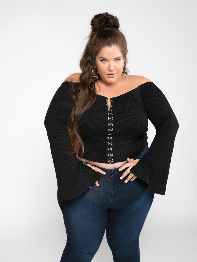 Chrissy Hook & Eye Top - FINAL SALE