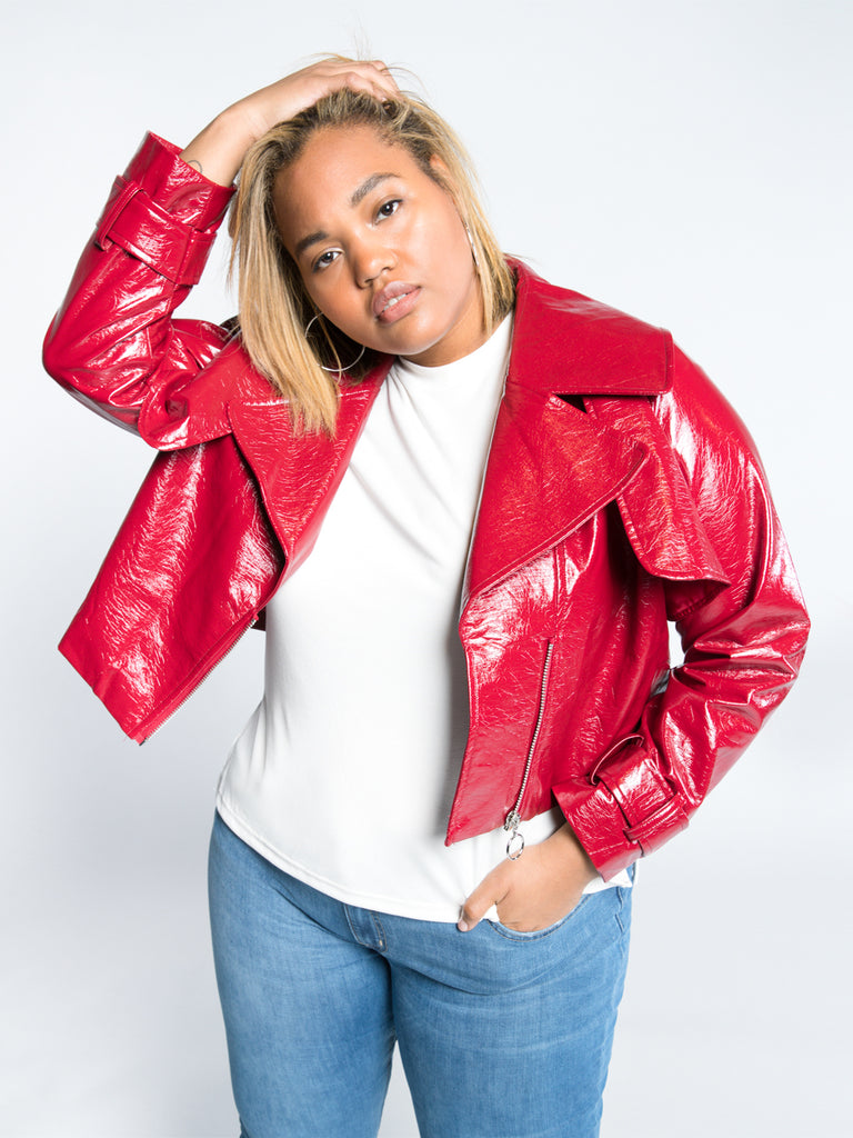 Alicia Vegan Moto Jacket - FINAL SALE