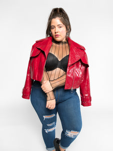 Alicia Vegan Moto Jacket