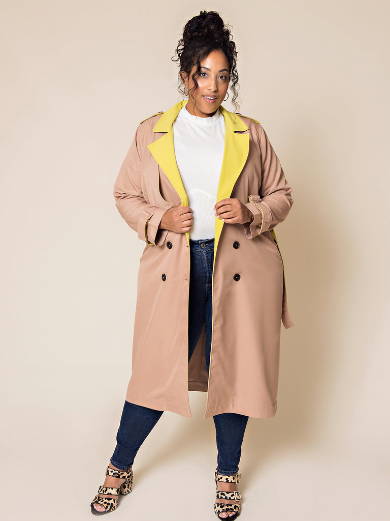 Olivia Neon Trench - FINAL SALE