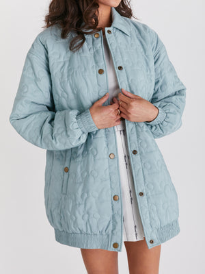 Load image into Gallery viewer, Outline Icon Puffer Jacket