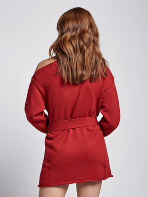 Ruby Red Sweater Dress