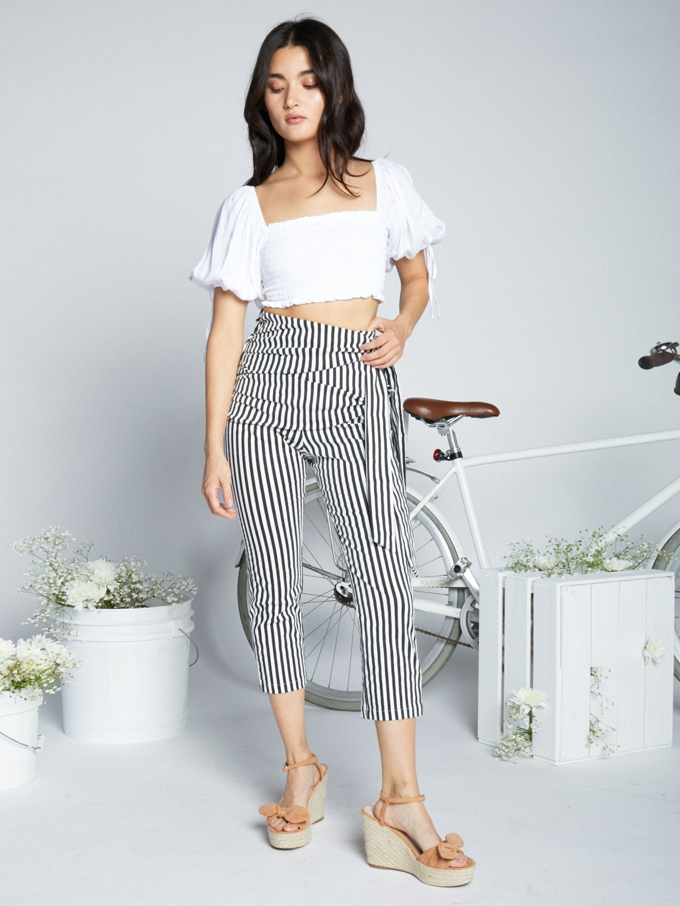 White Stripe Pants