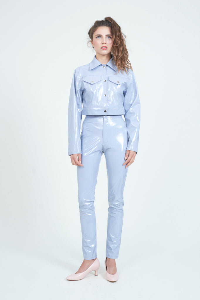 The High Waist Pale Blue PVC Pant