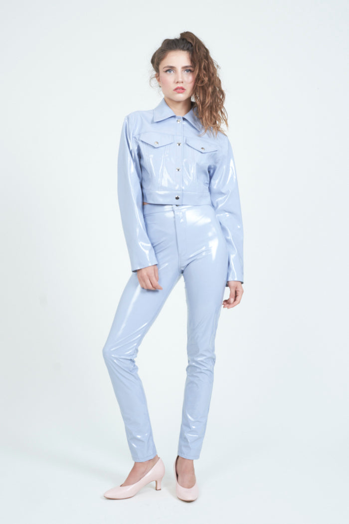 The Pale Blue PVC Trucker Jacket