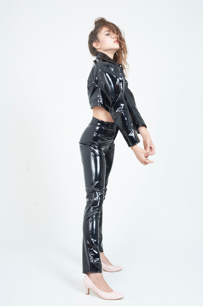 The High Waist PVC Black Pant