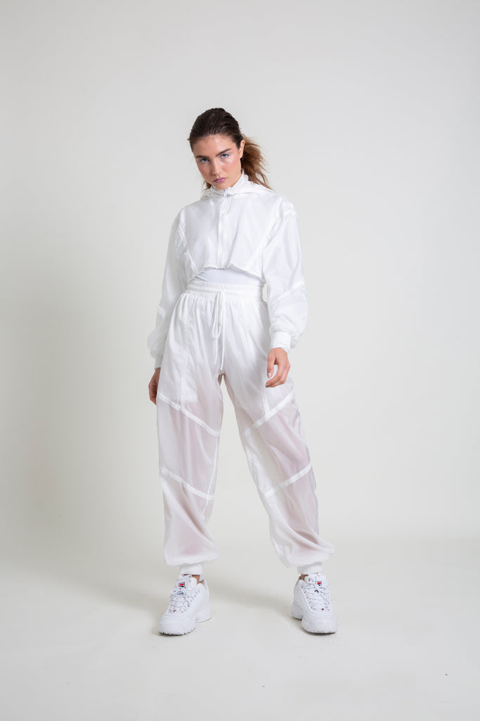 The White Nylon Jogger