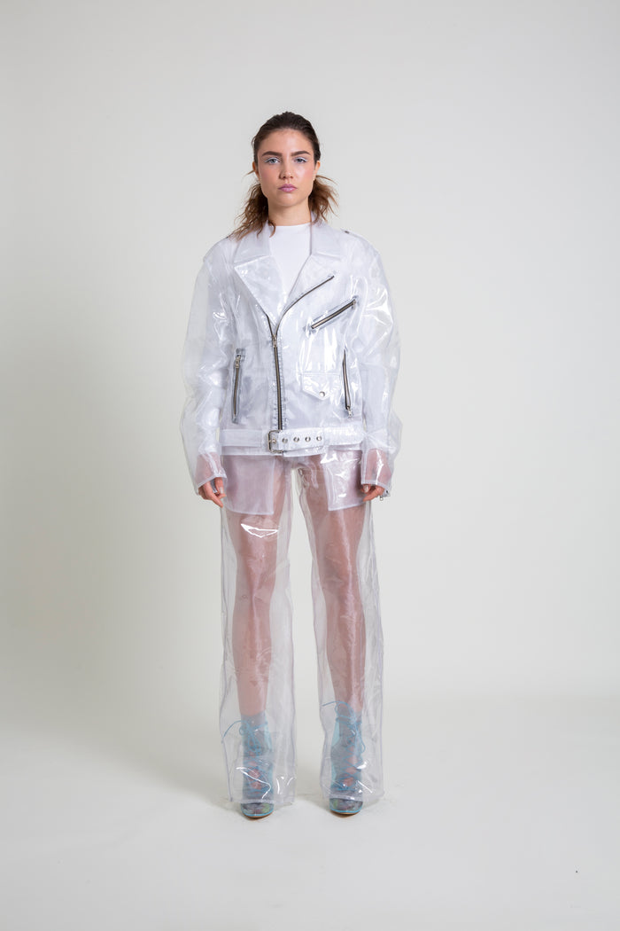 The Organza/Transparent Plastic Moto Jacket