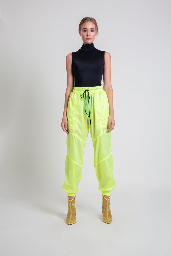 The Highlighter Yellow Nylon Jogger