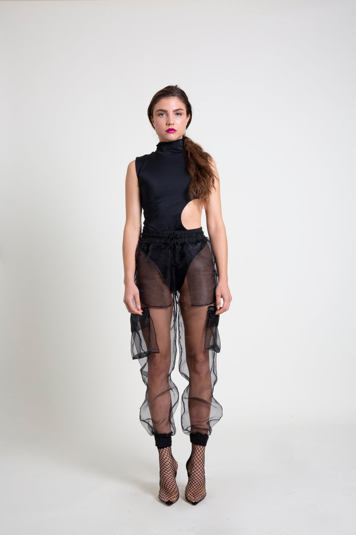 The Black Organza M-65 Pant