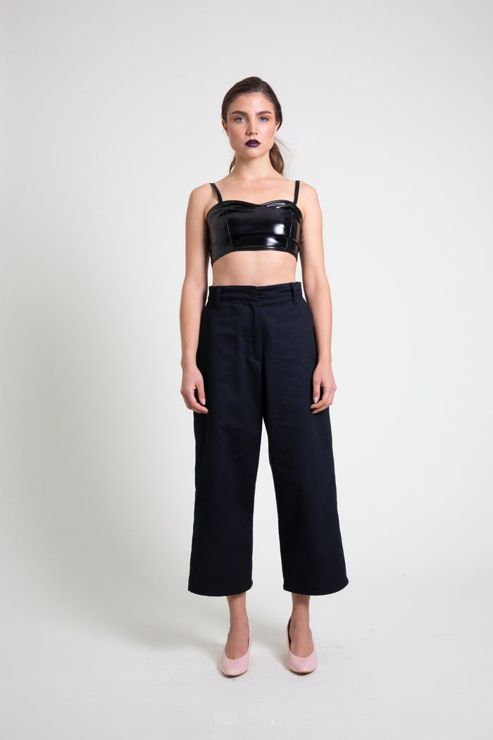 The PVC Crop Top