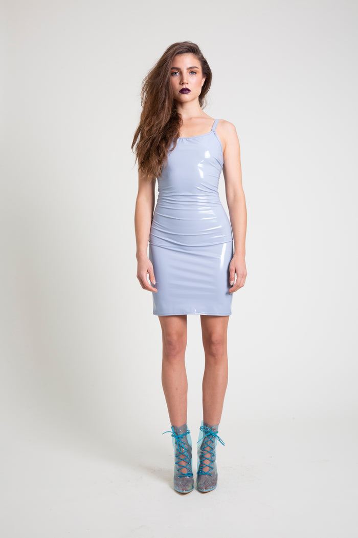 The Pale Blue PVC Mini Dress