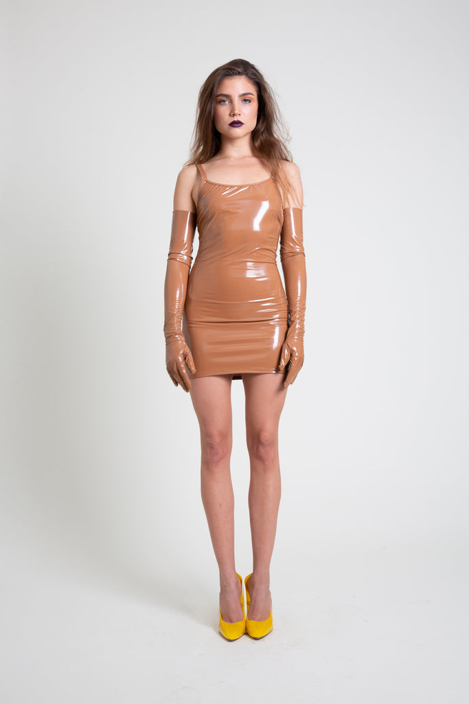 The Nude PVC Mini Dress
