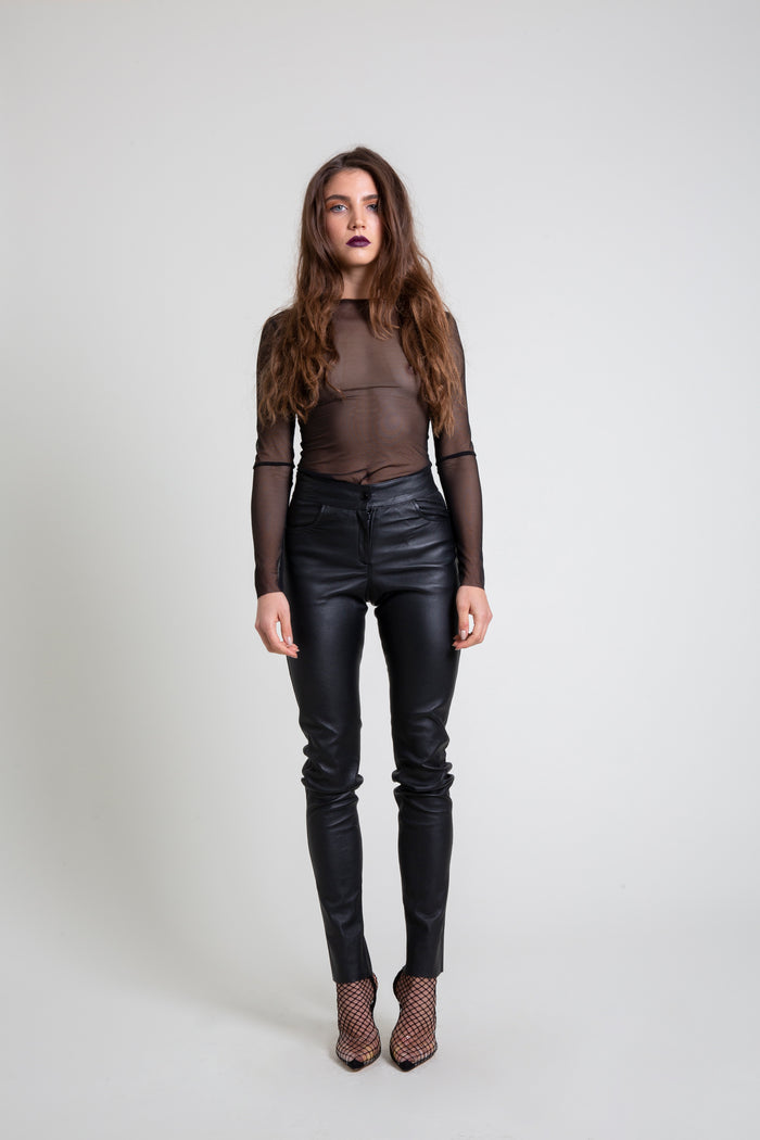 The Stretch Leather Pant
