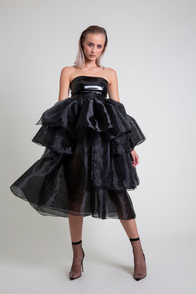 The Organza PVC Midi Dress