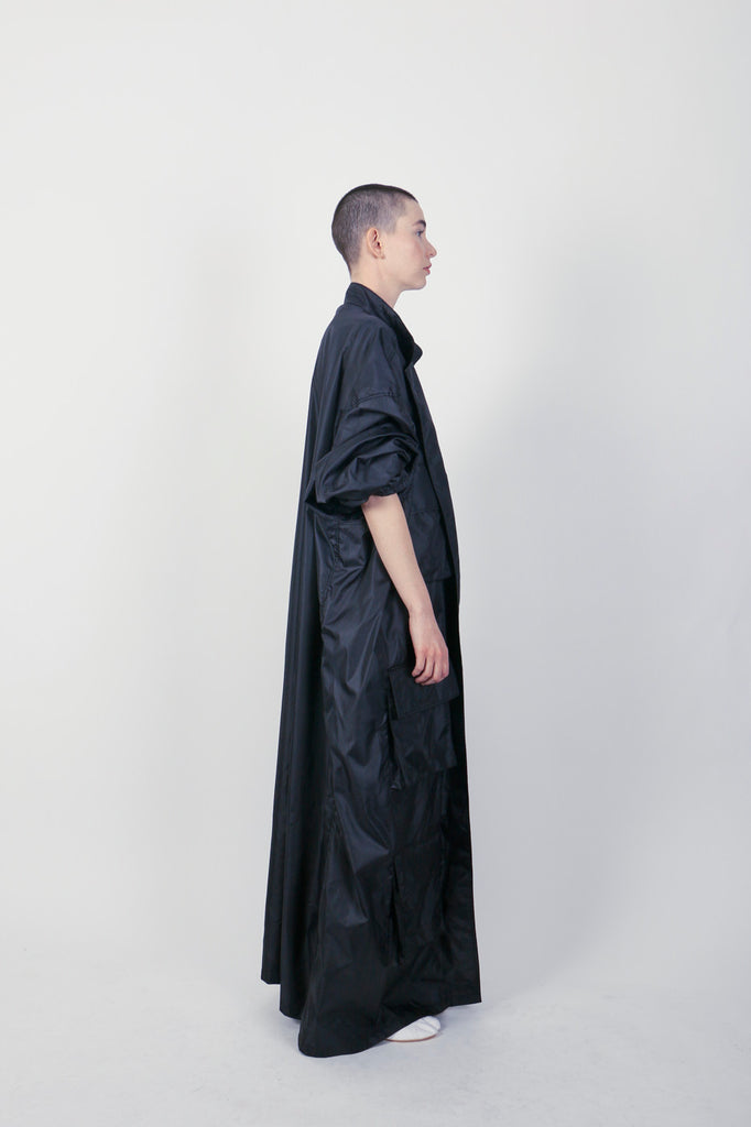 The Oversized Nylon Trench