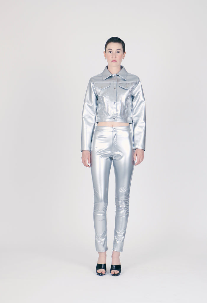 The Metallic PVC Tucker Jacket