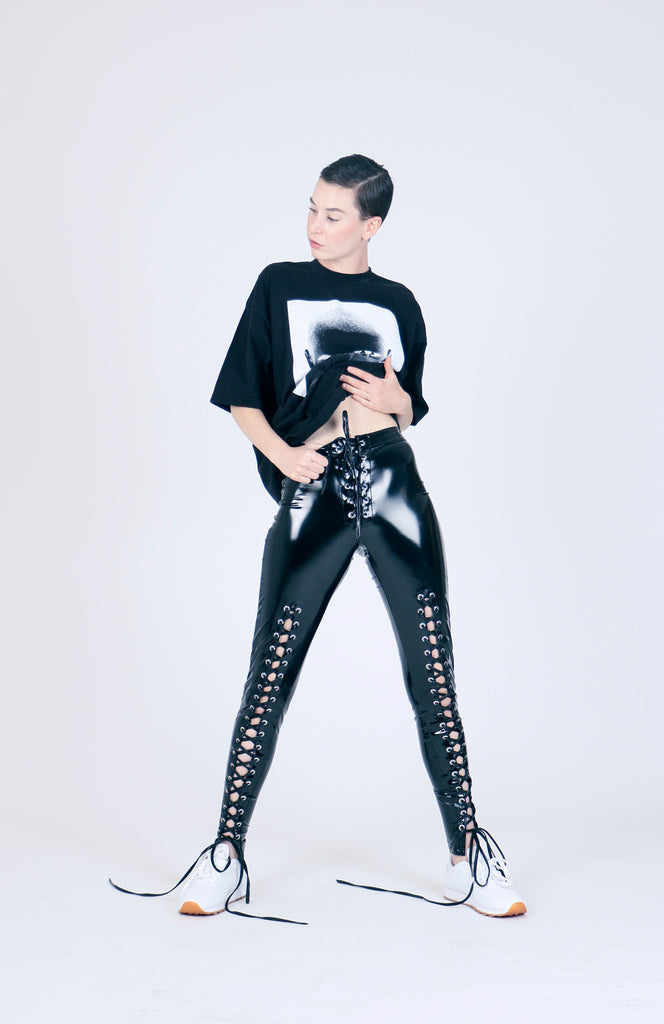 The Rapture Lace up PVC Pant