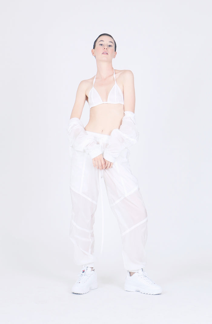 The White Nylon Triangle Bra