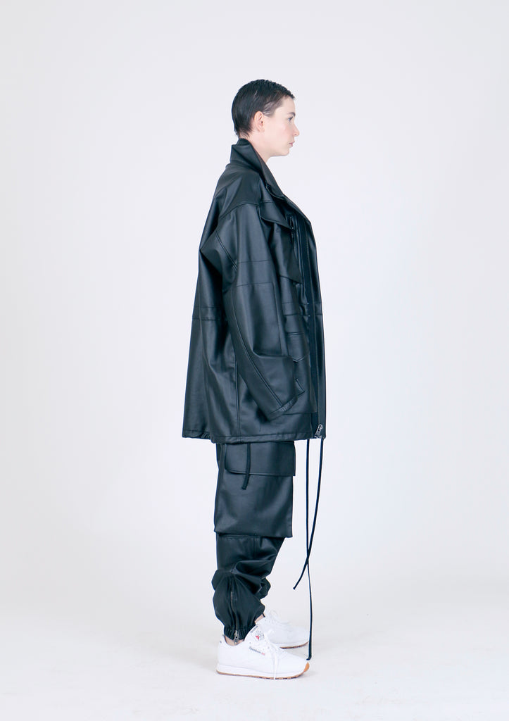 The Vegan Leather Athletic Suit