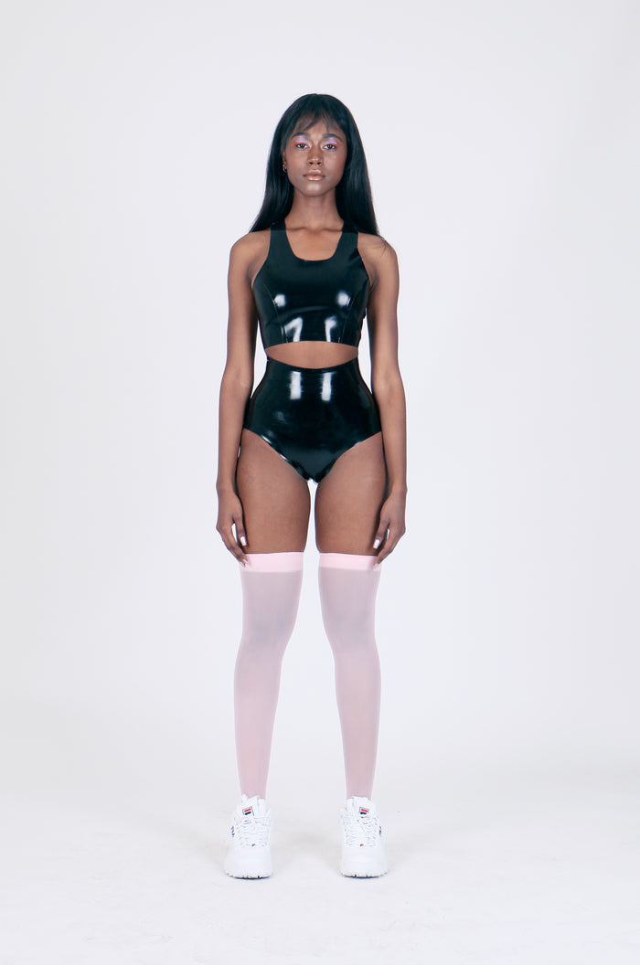 The Latex High Waist Knickers