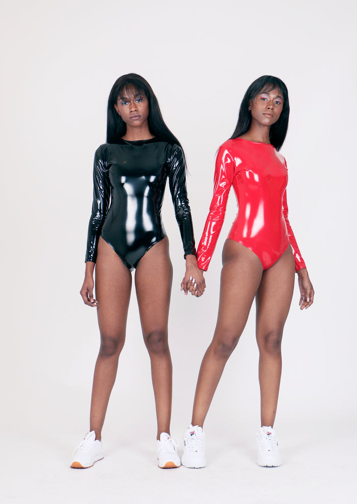 The Rebirth Red PVC Bodysuit
