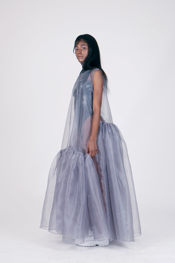 The Chosen One Grey Organza Dress