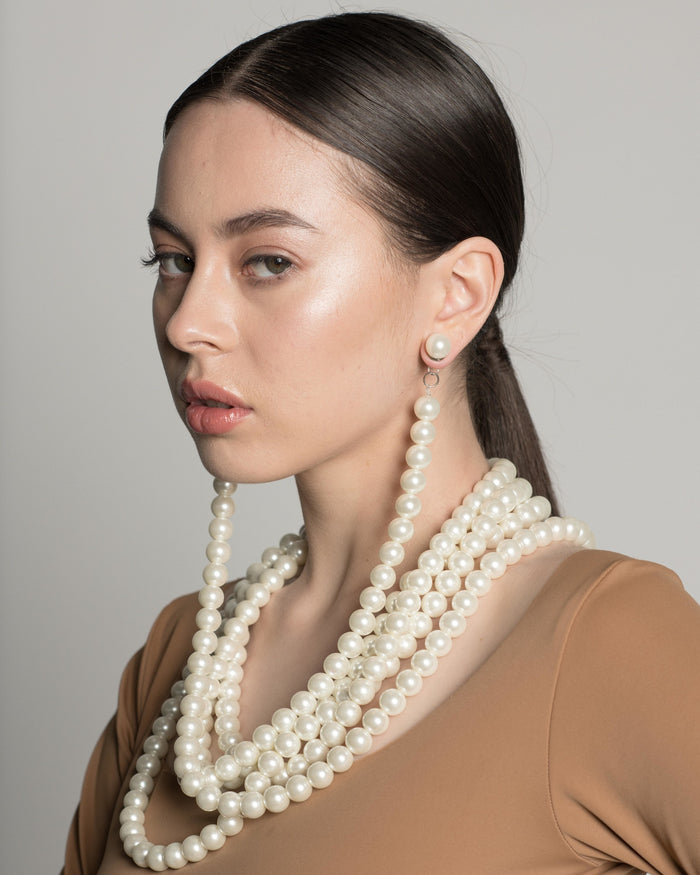 MONIRATH Pearls For Days Earring Necklace