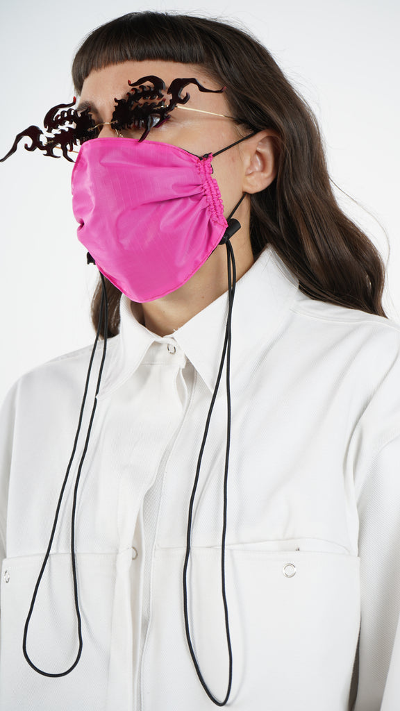 The Hot Pink Nylon Adjustable Bungee Cord Mask