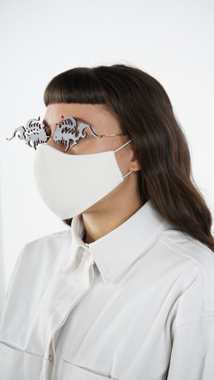 The White Canvas Traditional Mask