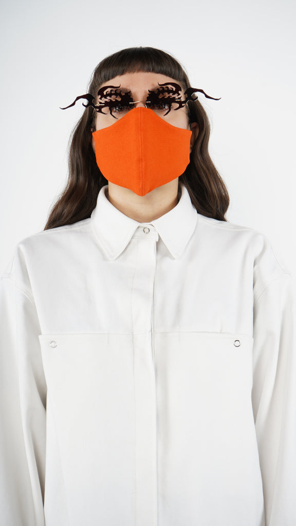 The Orange Canvas Traditional Mask