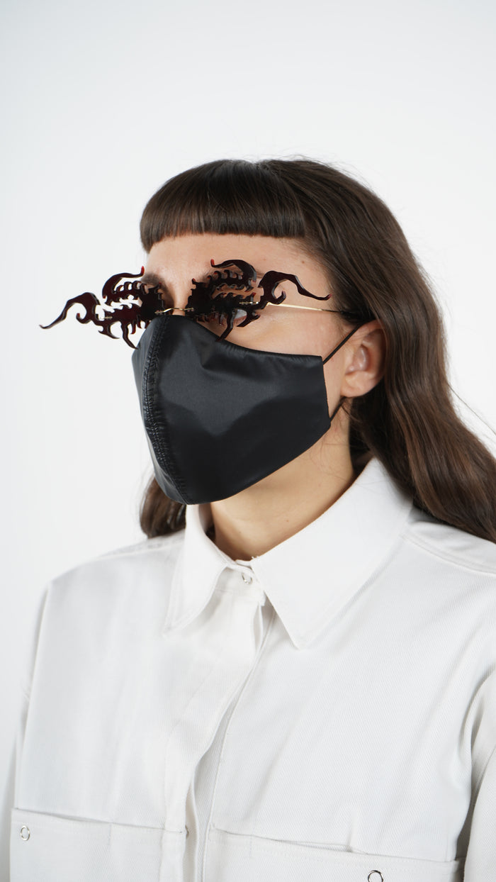 The Black Nylon Traditional Mask