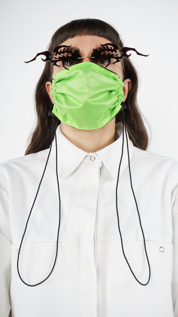 The Green Nylon Adjustable Bungee Cord Mask