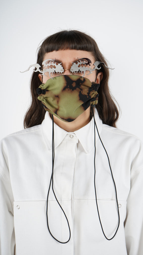The Bleached Adjustable Bungee Cord Mask 1