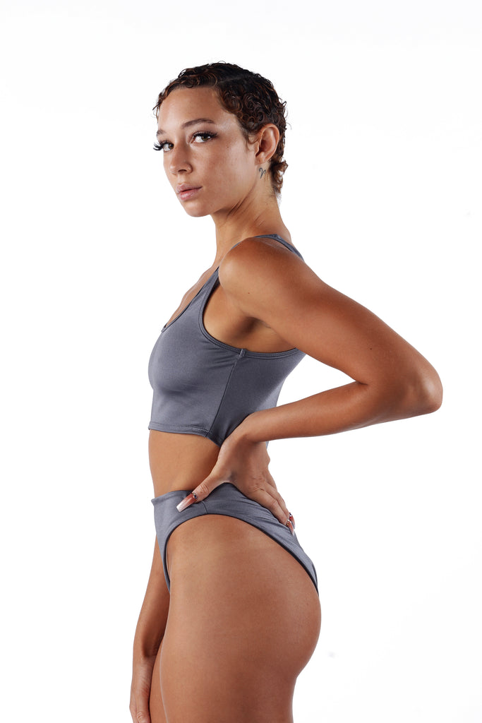 The High Cut Bikini - Grey