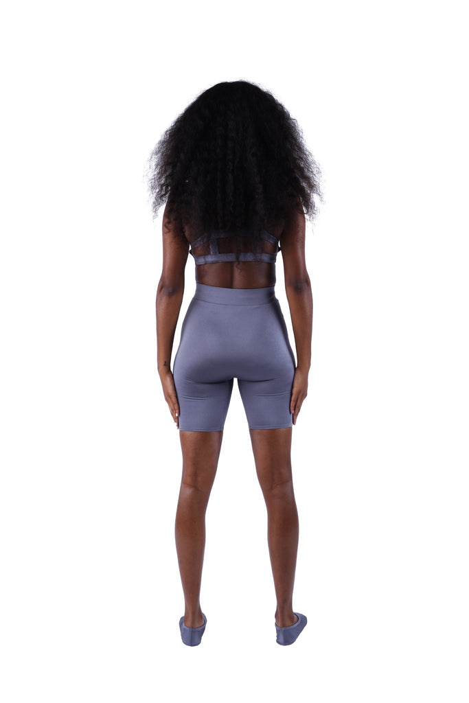 The High Waist Short - Grey