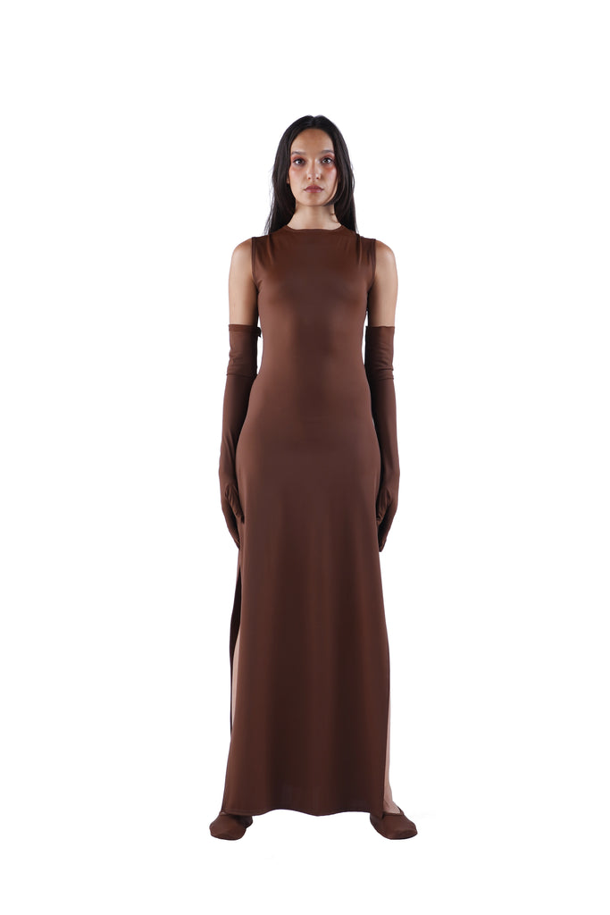 The Maxi Dress - Nude 02