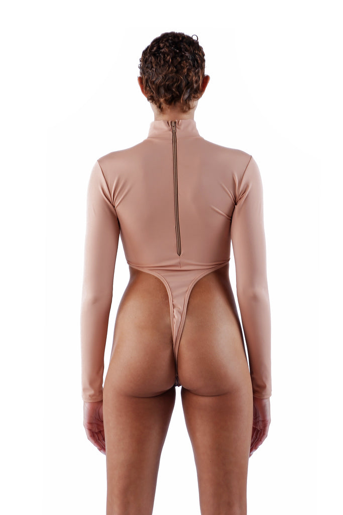 The Thong Bodysuit - Nude 01