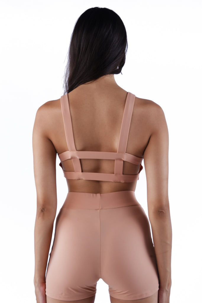 The Back Cutout Bra - Nude 01