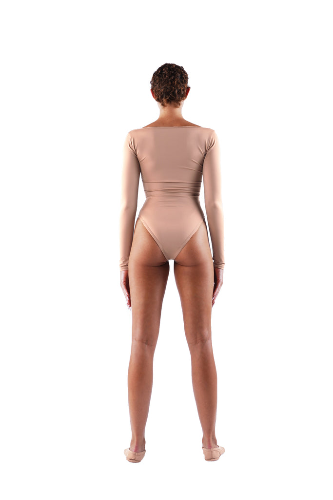 The Scoop Neck Bodysuit - Nude 01