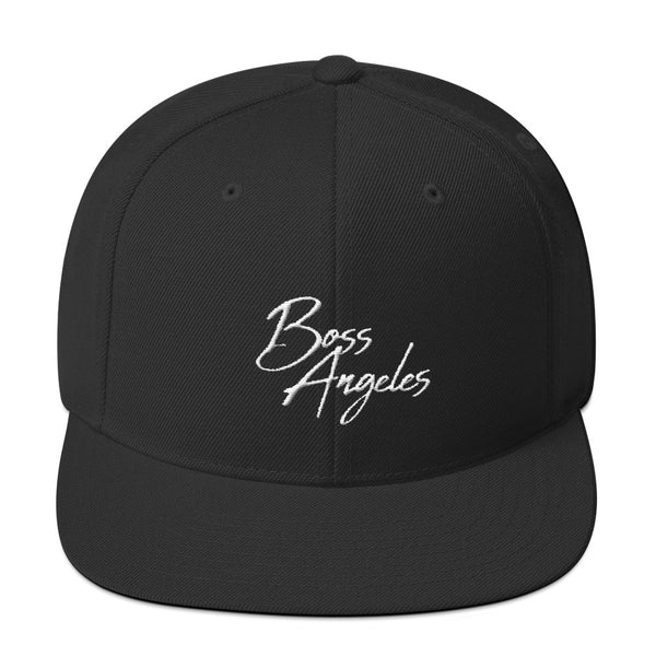 Boss Angeles Script Snapback Hat