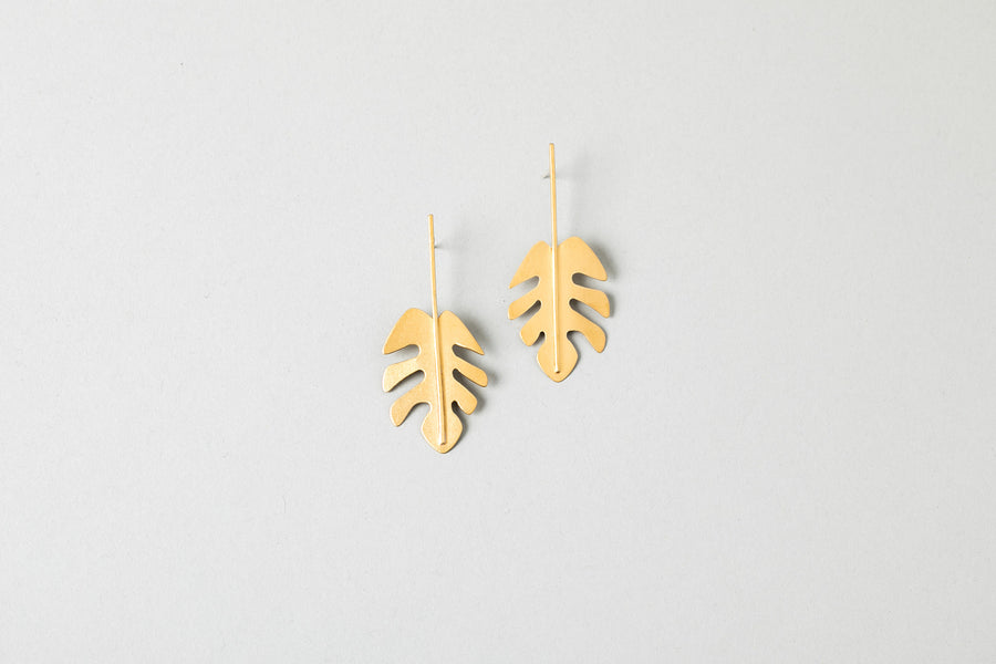 Mini Philodendron Earring