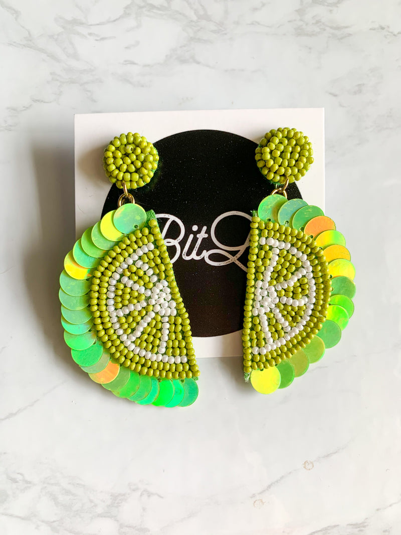 Slice of Lime Earrings