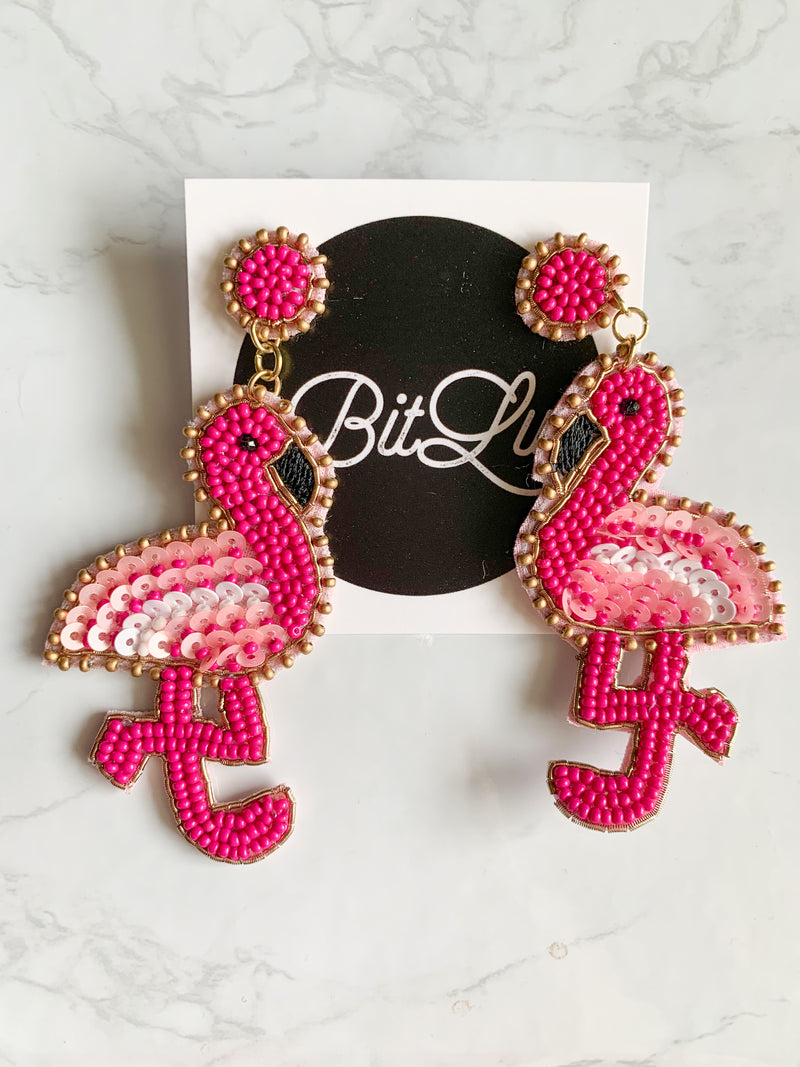 Perfect Pink Flamingo Earrings
