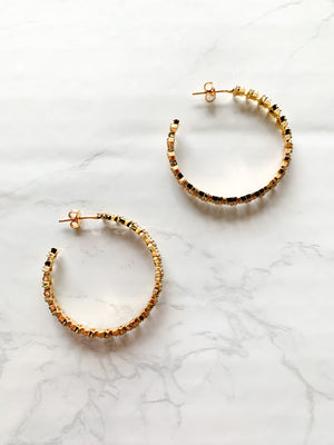 Juliet Star Hoop Earrings