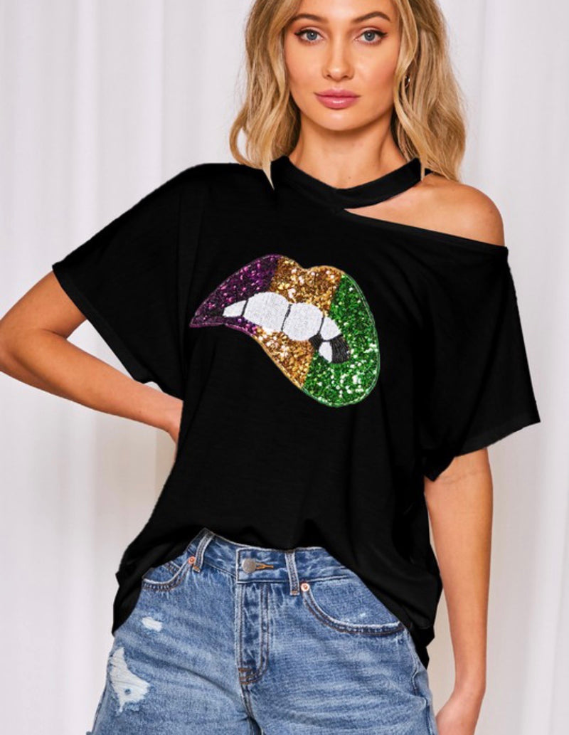 Mardi Gras Lip Shirt